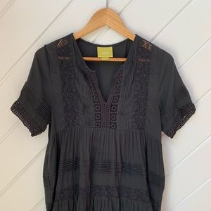 Anthropologie boho black top